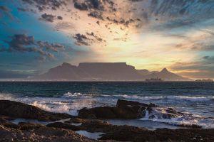 Radreisen durch Südafrika der Sonnenuntergang